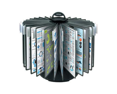 Демосистема настольная Mega Office карусель 30 панелей черная - (268185К)