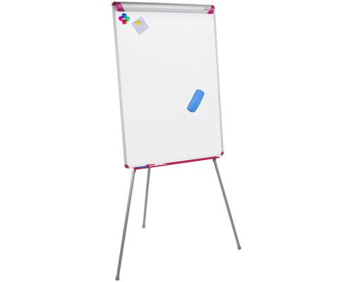 Флипчарт магнитно-маркерный на треноге Bi-Office 70х102 см рама серо-розовая - (270003К)