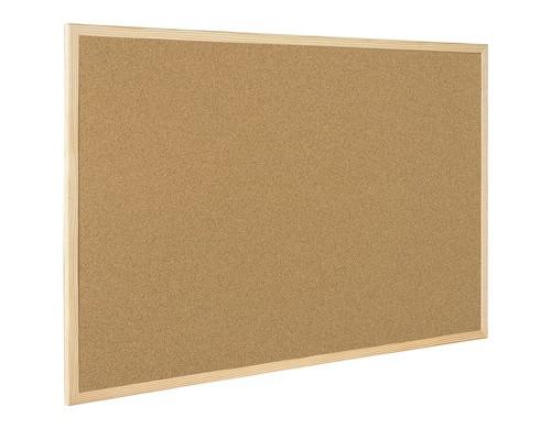Доска пробковая Bi-Office 30x45 см деревянная рама - (218300К)