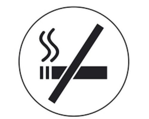 Информационная табличка настенная Smokers-No 85 мм на скотче пластик - (561105К)