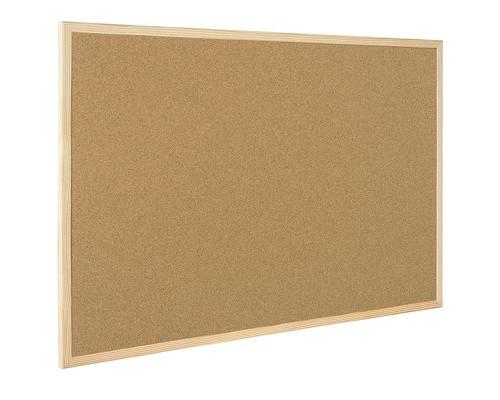 Доска пробковая Bi-Office 90x120 см деревянная рама - (218303К)