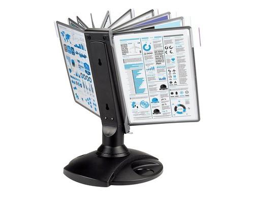 Демосистема настольная вращающаяся Mega Office 10 панелей черная - (268184К)