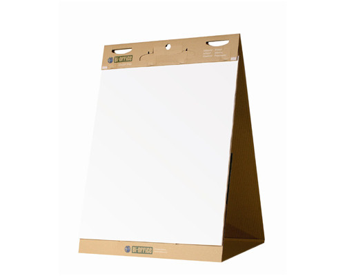 Флипчарт мобильный Bi-Office 50x58.5 см белая бумага 20 листов 80 г/кв.м раздвижной блок - (270007К)