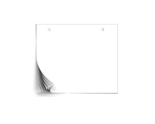 Бумага для флипчартов Attache 49х64 см белая 40 листов 80 г/кв.м 5 блоков - (447862К)