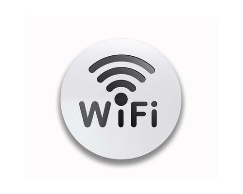 Информационная табличка Attache настенная Wi-Fi алюминевая 85 мм - (534431К)