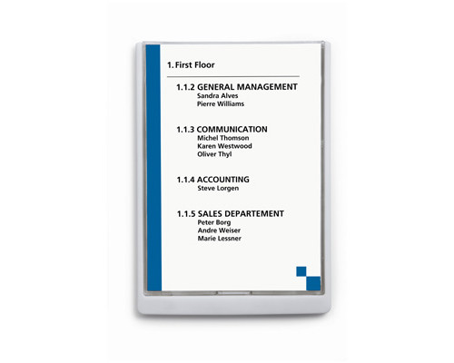 Информационная табличка настенная Durable 21х29,7 белая пластик-акрил - (273402К)