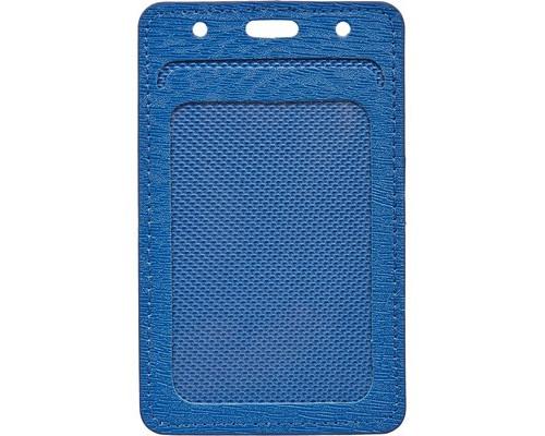 Бейджик вертикальный ProMega Office мягкий синий для карточек 54x90 мм - (541215К)