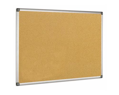 Доска пробковая Bi-Office 90x120 см алюминиевая рама - (218298К)