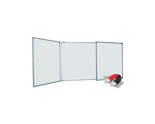 Доска магнитно-маркерная 3-элементная BoardSYS 100x300 см лаковое покрытие металлическая рама - (358657К)