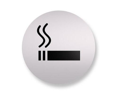 Информационная табличка настенная Курить разрешено 85 мм на скотче пластик - (561106К)