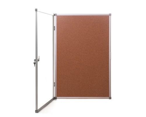 Доска для информации витрина пробковая Attache 90x120 см в алюминиевой раме - (391107К)
