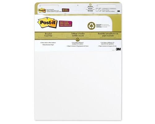 Бумага для флипчартов Post-it 63.5х76.2 см белая 30 листов 90 г/кв.м 2 блока - (62005К)