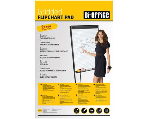 Бумага для флипчартов Bi-Office 65х98 см белая 20 листов в клетку 70 г/кв.м - (218327К)