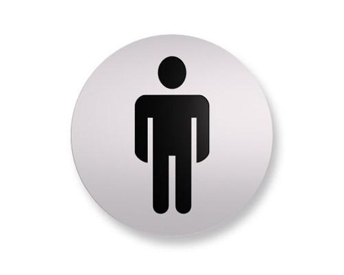 Информационная табличка Attache настенная Туалет мужской алюминевая 85 мм - (172242К)