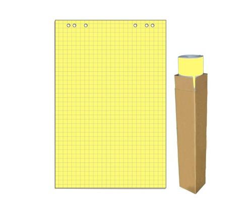 Бумага для флипчартов Attache Selection 68х98 см желтая 20 листов в клетку 80 г/кв.м - (659384К)