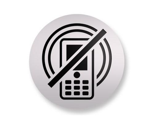 Информационная табличка Attache настенная Не разговаривать по телефону алюминевая 85 мм - (172244К)