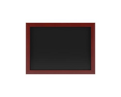 Доска магнитно-меловая настенная одноэлементная 500x700 мм лаковое покрытие черная - (502931К)