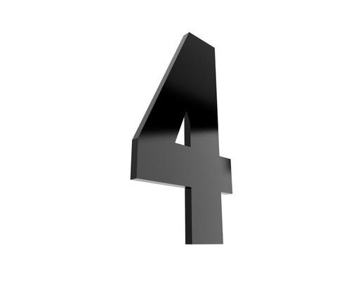Табличка с номером 4 на клеящейся основе - (529749К)