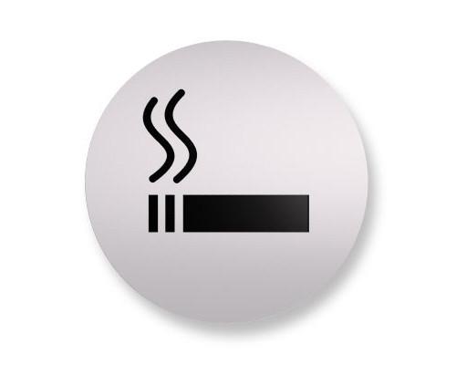 Информационная табличка Attache настенная Курить разрешено алюминевая 85 мм - (172245К)