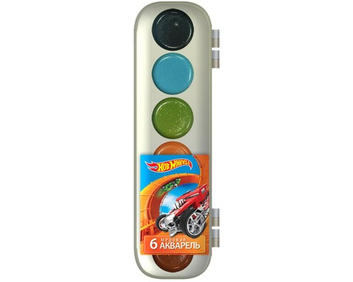 Краски акварельные Hot Wheels медовые 6цв 47170620