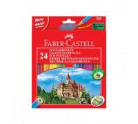 Карандаши цветные 24цв 6-гран Faber-Castell Grip Eco Замок120124