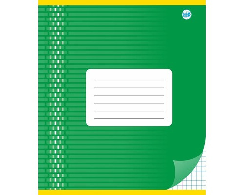 Тетрадь школьная А5, клетка 12л, обл.картон (орнамент) С 513