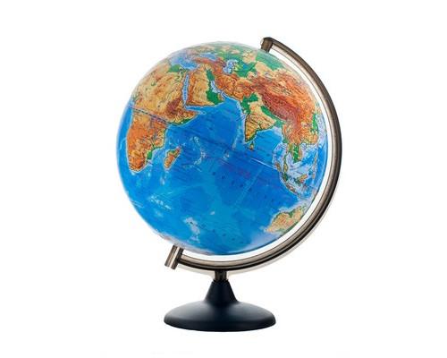 Глобус физический,d=300мм,рельеф,пластиковая подставка,10315