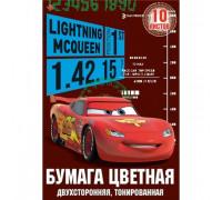 Бумага цветная Cars 12л 12цв(тониров в массе) А4 папка D3703/2