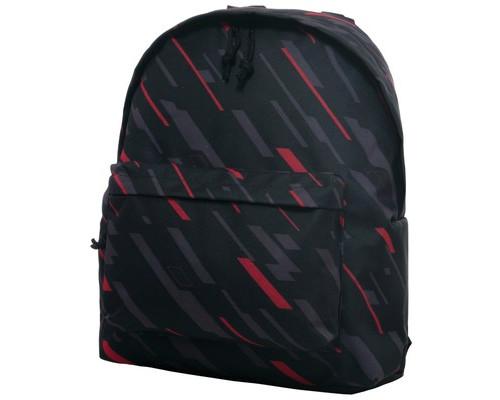 Рюкзак молодежный №1 School полосы на черн.