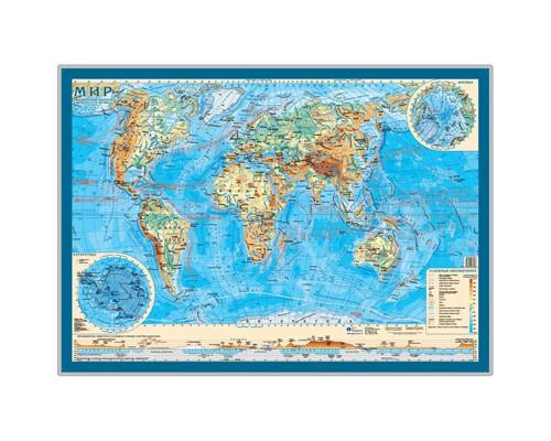 Настенная карта Мир. Физическая 1:55 млн. Настольная карта