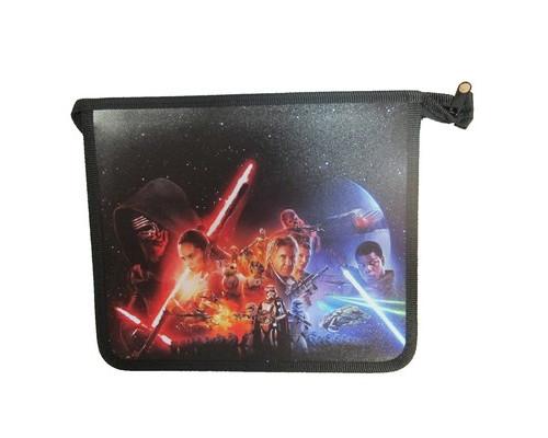 Папка для тетрадей Звездные войны, А5,пластик, молния, 87284