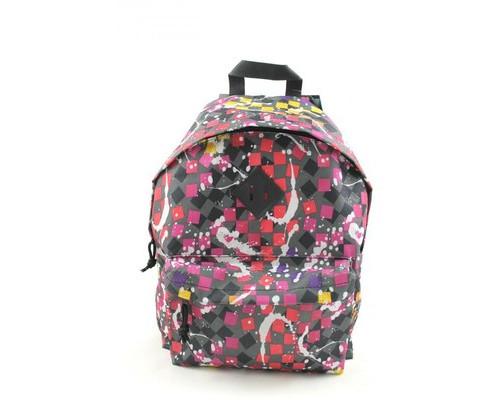 Рюкзак молодежный №1 School цветные квадраты на сером