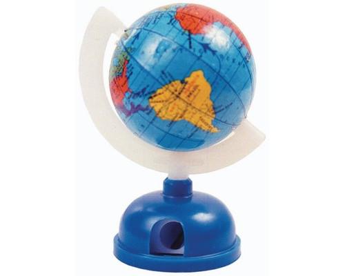 Точилка в форме глобуса на подставке одинарная, пласт. 80476