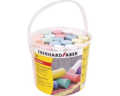 Мел Eberhard Faber асфальный цветн. 20 шт пласт. ведро 526512