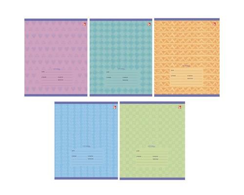 Тетрадь школьная 12л,лин,А5,скрепка,Орнамент(ТЛ125058)