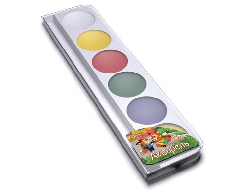Краски №1School Лисята 6цв аквар б/кист пласт.