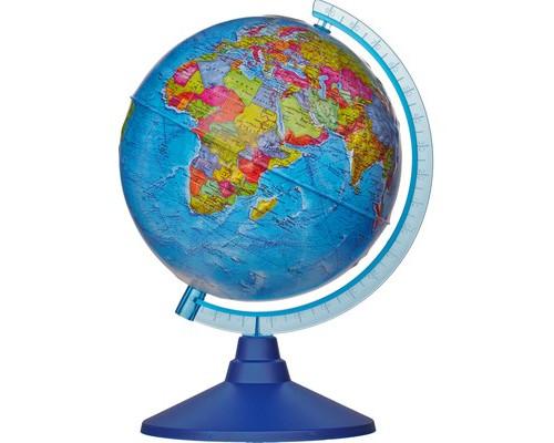 Глобус Земли политический,Классик,рельефный,210мм