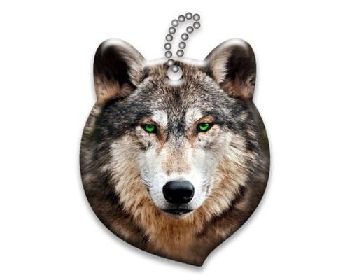 Брелок светоотражающий 3D Волк А458