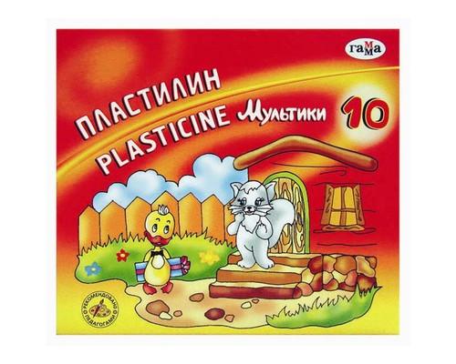 Пластилин Гамма Мультики 10цв 200гр со стеком