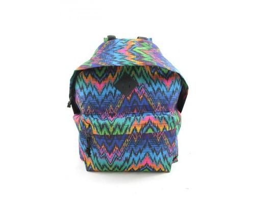 Рюкзак молодежный №1 School цветные зигзаги
