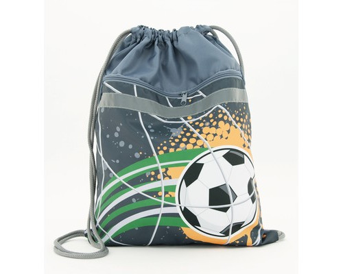Мешок для обуви №1 School Футбол 370*470мм карман светоотраж. МО 26-2с