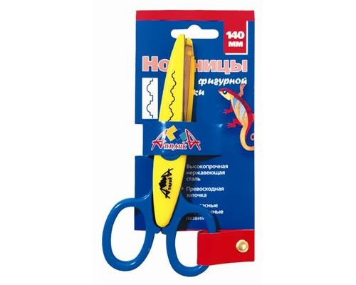 Ножницы детские с фигурным лезвием хижина,140мм,С2249-01