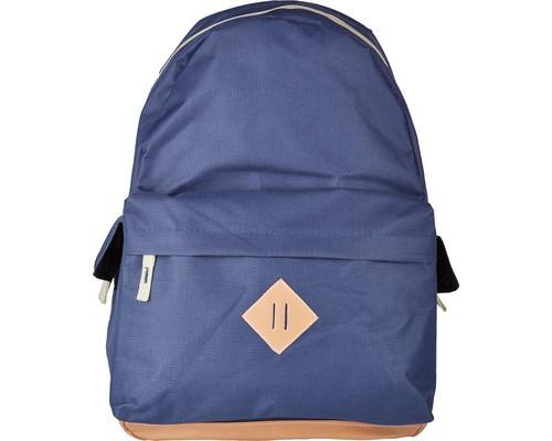 Рюкзак молодежный №1 School синий с кож.замом