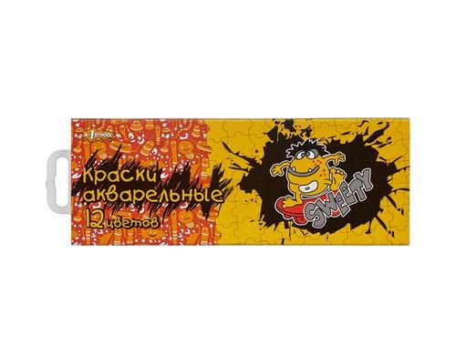 Краски №1School,Puzzle,12цв,аквар,б/кист,Россия