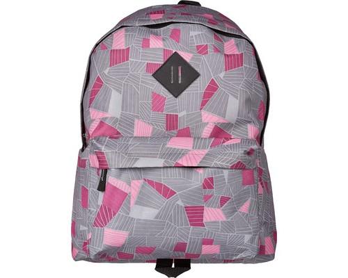 Рюкзак школьный №1 School серый с розовым принтом