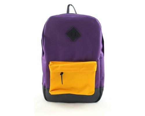 Рюкзак молодежный №1 School фиол./желт., кож.зам