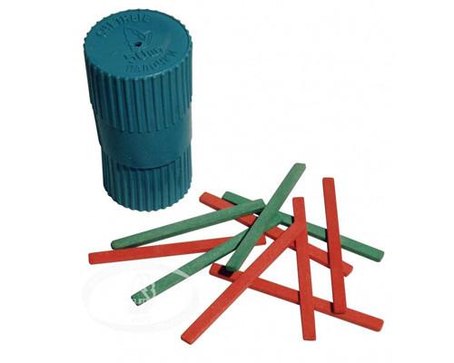 Счетные палочки деревянные,50шт,пласт.тубус,С21
