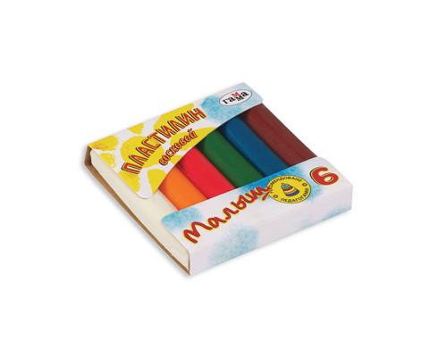 Пластилин Гамма Малыш 6цв восковой 54гр
