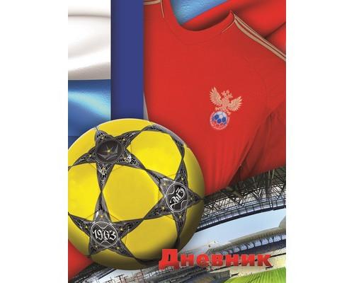 Дневник школьный д/мл кл,А5,Футбольный мяч,7БЦ(С0177-125).