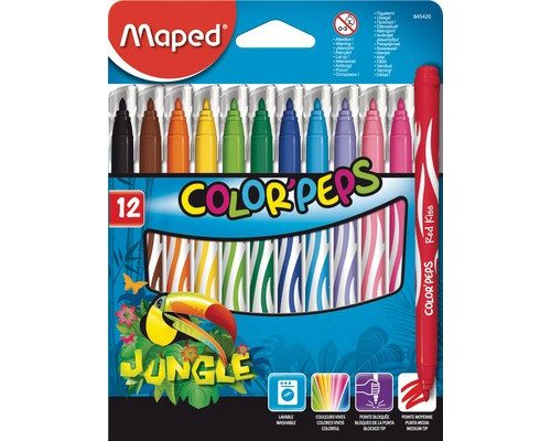 Фломастер Maped Jungle 12 цв 845420 картон